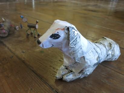 古新聞でつくるかわいい動物人形2