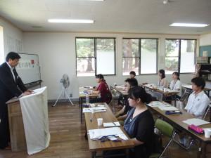 真夏の漆塾開講式